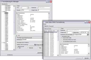 Screenshot Modul IKAS Tourenplanung